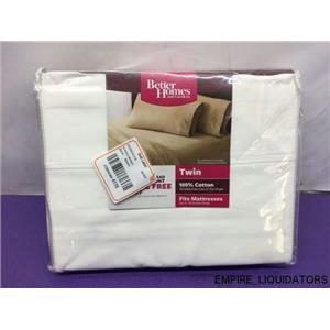 Better Homes and Gardens 300 Thread Count Wrinkle Free Sheet Set in White - NEW
