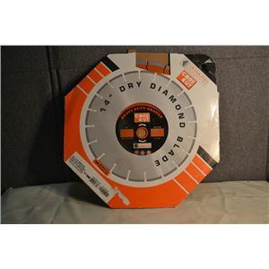 "Diamond Products Core Cut 53738 14""X.110X UNV Heavy Duty Orange High Speed Blade"