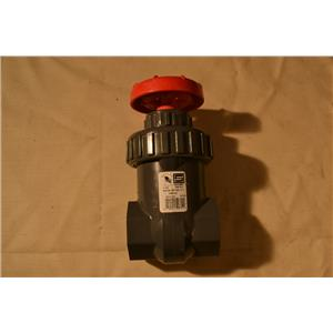"Spears 1-1/2"" Gate Valve, IPS PVC, BUNA, 200 PSI Water 73F Socketed"