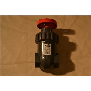 "Spears 1-1/4"" Gate Valve, IPS PVC, BUNA, 200 PSI Water 73F Socketed"
