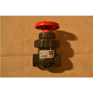 "Spears 1/2"" Gate Valve, IPS PVC, BUNA, 200 PSI Water 73F NSF-61 Threaded"