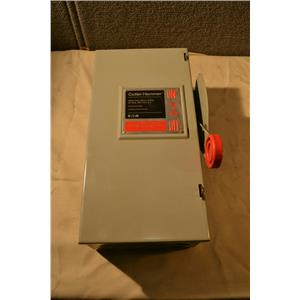 30A 600V Cutler-Hammer DH361FGK Heavy Duty Safety Switch with FRS-R-15 Fuses