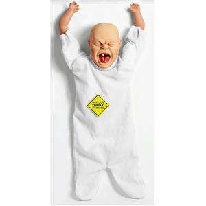 Forum Novelties Annoying Baby On Board Doll Gag Gift Joke Prank Crying Baby Prop