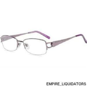 Contour Rectangle Womens Prescription Glasses, FM11550 Purple size 52-18-135