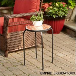 """14"""" X 22"""" Garden Oasis Ceramic Tile Plant Stand-Large - outdoor and indoor use"""