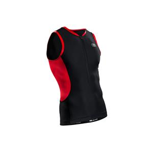 Sugoi Men's RS Tri tank - Black / Red - Men's Large
