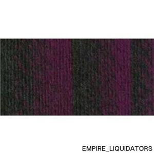 Lot of 3 Brand New / Never Used Scarfie Yarn in Charcoal/Magenta 212
