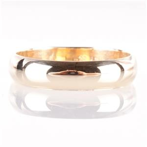 Traditional 14k Yellow Gold Wedding Band / Ring 4.4g Size 11