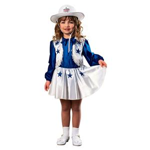Dallas Cowboys Cheerleader Girl's Costume Size Toddler 1-2 Years
