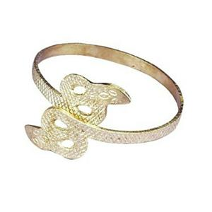 Gold Metal Snake Egyptian Cleopatra Armband Bracelet Costume Jewelry Accessory