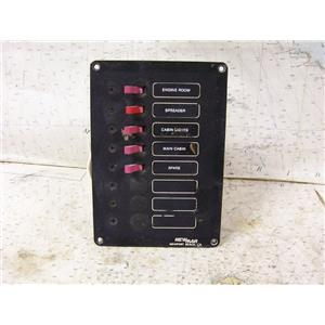 Boaters' Resale Shop of TX 1701 0421.21 NEWMAR 8 SLOT DC PANEL WITH 5 BREAKERS