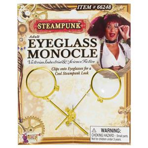 Steampunk Adult Eyeglass Monocle Clip Costume Accessory