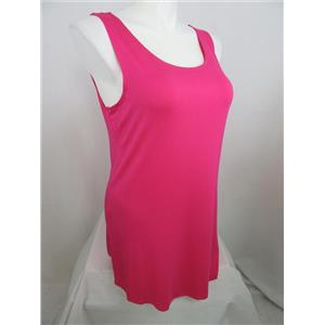 LOGO Layers by Lori Goldstein Size 2X Petite Bright Pink Curved Hem Knit Tank