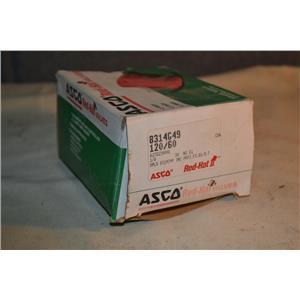 ASCO 8314G49 120V-AC 1/8 IN NPT SOLENOID VALVE, 120V Coil