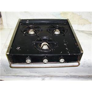 Boaters' Resale Shop of TX 1702 0252.01 THREE BURNER PROPANE DROP-IN STOVE TOP