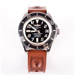Men's Stainless Steel Breitling Superocean Wrist Watch W/ Interchangeable Bands