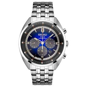 Seiko Watch SSC567 Solar Recraft Chronograph All Steel Mens. 25%off MSRP