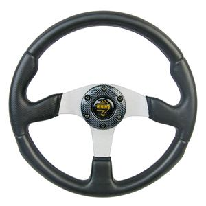 340mm 3 Spoke PVC Plastic Racing Steering Wheel Can Fit MOMO SPARCO OMP Boss Kit