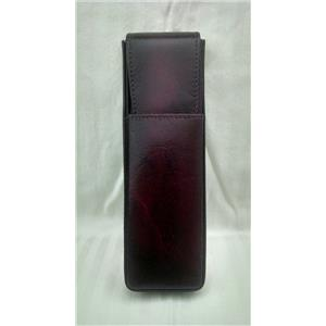 Girologio 2 Pen Leather Easy Access Safety Case - Cordovan or Black - Exquisite!