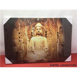 "BRAND NEW / SEALED  - Peaceful buddha canvas print  (30"" X 20"")"
