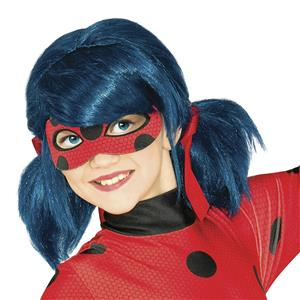 Miraculous Ladybug Cartoon Character Child Blue Pigtails Costume Wig