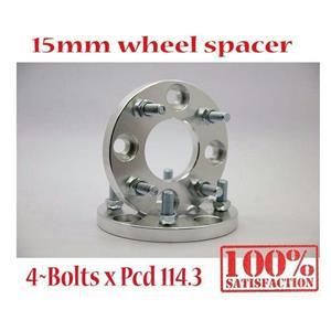 1Pair 4x114.3 4 Bolt PCD 114.3 Alloy T6061 Wheel Spacers 15mm Centerbole 67.1mm