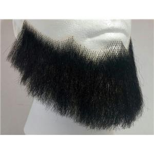 Black Human Hair Full Character Professional Costume Beard 2024