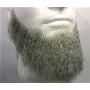 Light Grey Human Hair Full Character Professional Costume Beard 2024