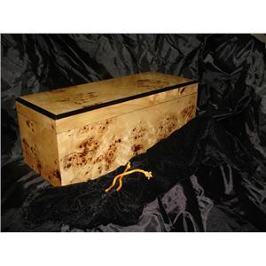 Bird's-eye Maple High Gloss Veneer Felt Lined Wine Gift Box