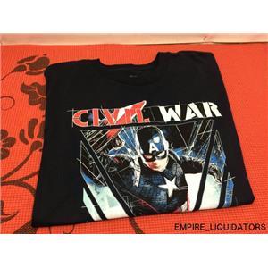 Marvel Captain America's Civil War Large T-Shirt - Dark Blue (NO TAGS)