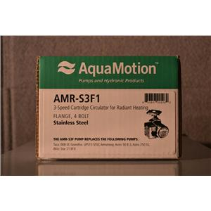 "AquaMotion AMR-S3F1 Stainless Steel Circulator Pump 3 Speed 1"" Port 120V 125 PSI"