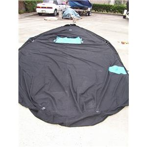 Boaters' Resale Shop of TX 1703 4107.22 BLACK BOAT COVER 11' WIDE x 26' LONG