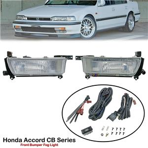 1 Pair 12V Front Bumper Fog Light Lamp For Honda Accord SM4 CB CB3 CB4 1990-91