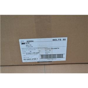 "(Box of 50) 3M Cloth Belt 577F, 2"" x 48"" in 36 YF-weight"