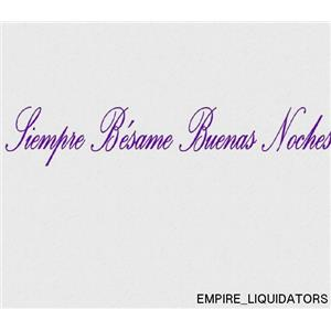 Vinyl Say G.YELLOW -55x10-s.0002 Siempre Besame Buenas Noches Spanish Wall Decal