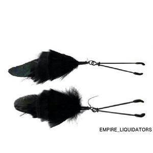 BRAND NEW - Nipple Clamp Tweezer IN Black Feather by Bijoux de Nip -A