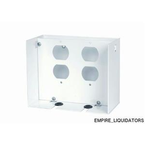 NEW - SIEMENS ACP4 AC Outlet for 2 Duplex Receptacles in White -A