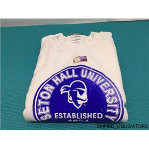 NCAA Seton Hall Pirates 50/50 Blended 8OZ Vintage Circle Crewneck Sweatshirt -A