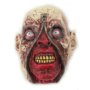 Zipper Face Rotting Zombie Head Latex Halloween Horror Costume Mask