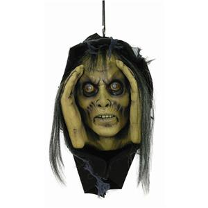Lurking Peeping Scary Female Zombie Vinyl Halloween Window Prop Decoration