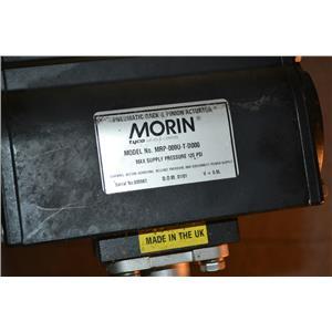"""Morin MRP-009U-T-D000 Pnuematic Rack Pin Actuator, 120 PSI 2"""" 316 SS 2-Way Valve"""