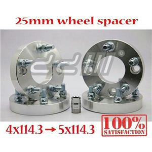 4pcs Wheel Spacer Adapter Bolt On 12 x 1.5 / 4x114.3 TO 5x114.3 4 X4.5 to 5x 4.5