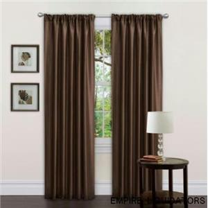 "Lush Decor 54"" X  84"" Abigail Rod Pocket Single Curtain Panel, Brown"