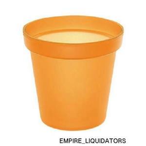 Set of 12 Brand New Mepra contemporary Ice Buckets Orange - Dishwasher Safe -A