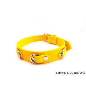 Brand New - Heart 2 Heart Collar Biothane Non sticky Rubber in Yellow -A