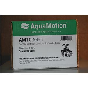 "AquaMotion AM10-S3F1 Stainless Steel Circulator Pump 3 Speed 1"" Port 120V"