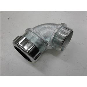"""Thomas & Betts 2285 2"""" Strain Relief Cord Connector 90 Degree Angle"""