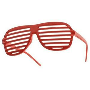 Red Lensless Shutter Blinds Style Party Glass Frame Cool Fashion Eyewear