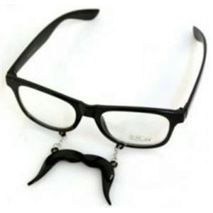 Moustache Clear View Style Fashion Novelty Glasses DO NOT LIST