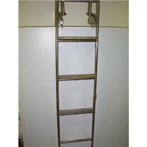 Boaters' Resale Shop of TX 1702 0525.14 FOLDING 5 STEP SS LADDER & MOUNTS